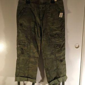 Green Camo Cargo Pants